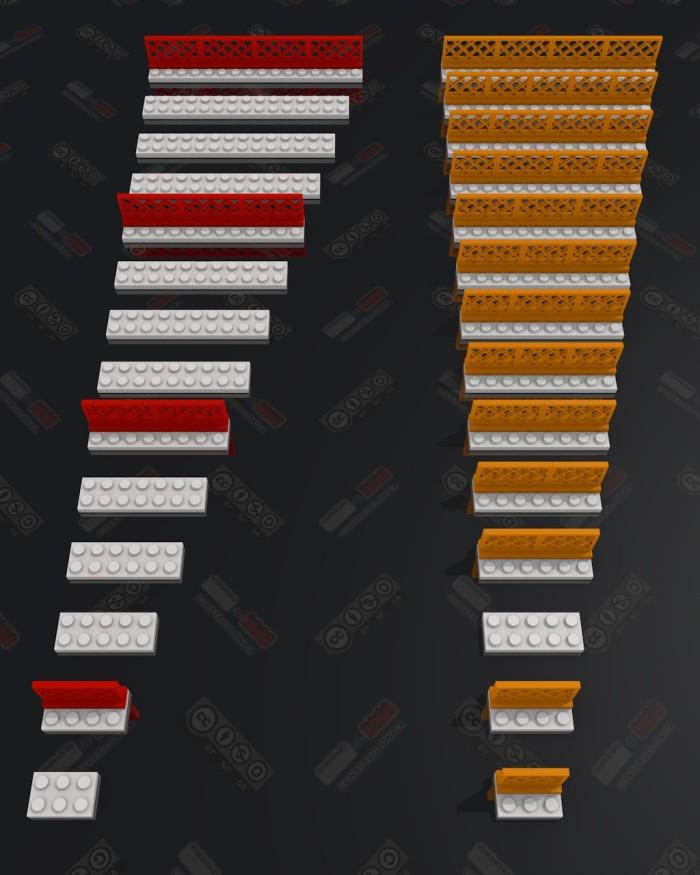 Combinaciones de barandas de 3 y 4