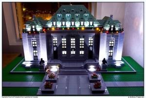 Palacio Lego iluminado con LEDs