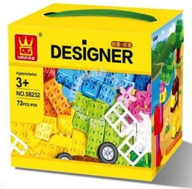 Wange Designer 72 piezas compatibles Duplo